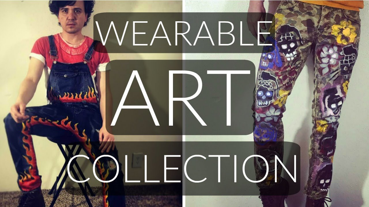 5b97ecb6abbab Wearable Art Collection | Hand Painted Clothes - YouTube