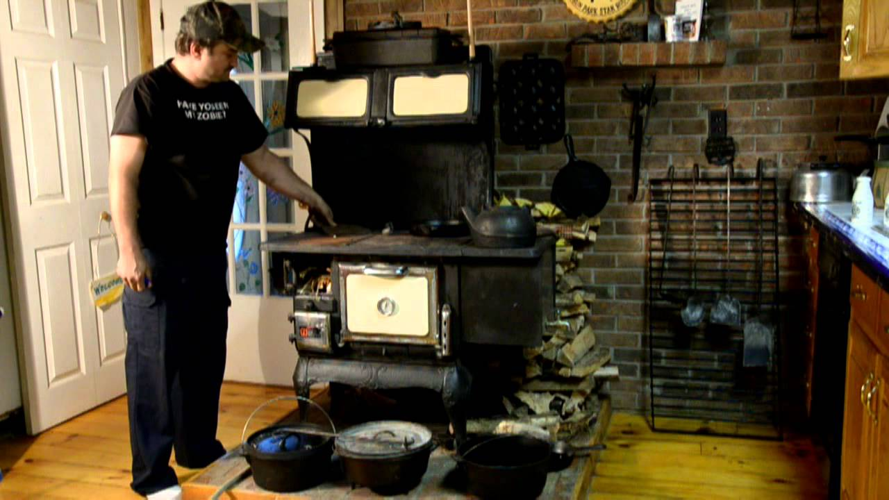 Wood Buring Kitchen Stove Youtube
