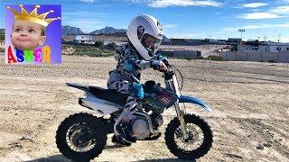 Мотогонки Соревнование для детей Крутые виражи У Ашера первый урок мотокросса