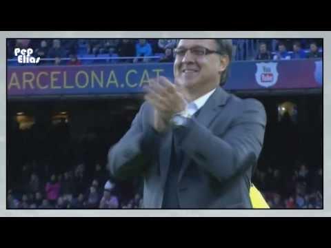 Tata Martino reaction for Alexis Sanchez goal [HD] 5/1/2014