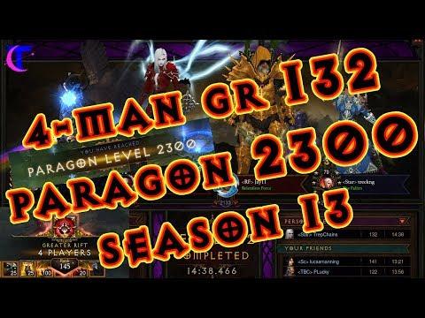 Diablo III Season 13 - 4man GR 132 - TrepChains Paragon 2300