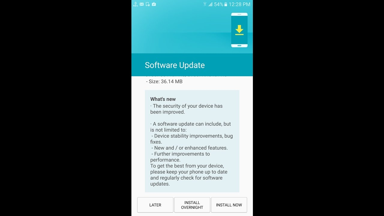 how to check software update on samsung s7