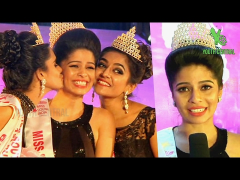 Tamilnadu Girl Bavithra B won Miss South India 2017 Title