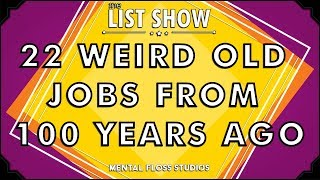 22 Weird Old Jobs From 100 Years Ago