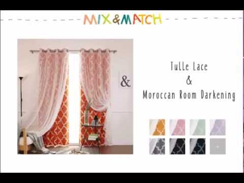 Best Home Fashion - Mix and Match Curtains (Tulle Lace Mix and Match Collection)