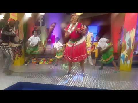 Tirhani  Mabasa with Pinda Marhungani on YoTV Heritage day show