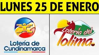 Resultados Lotería de CUNDINAMARCA y TOLIMA Lunes 25 de Enero de 2021 | PREMIO MAYOR 😱💰🚨