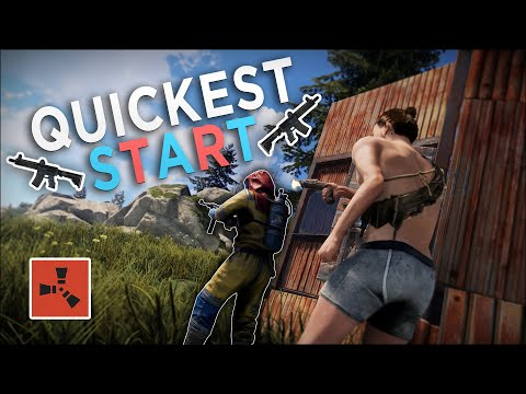 The QUICKEST START To My BEST WIPE EVER! - Rust Solo Survival #1