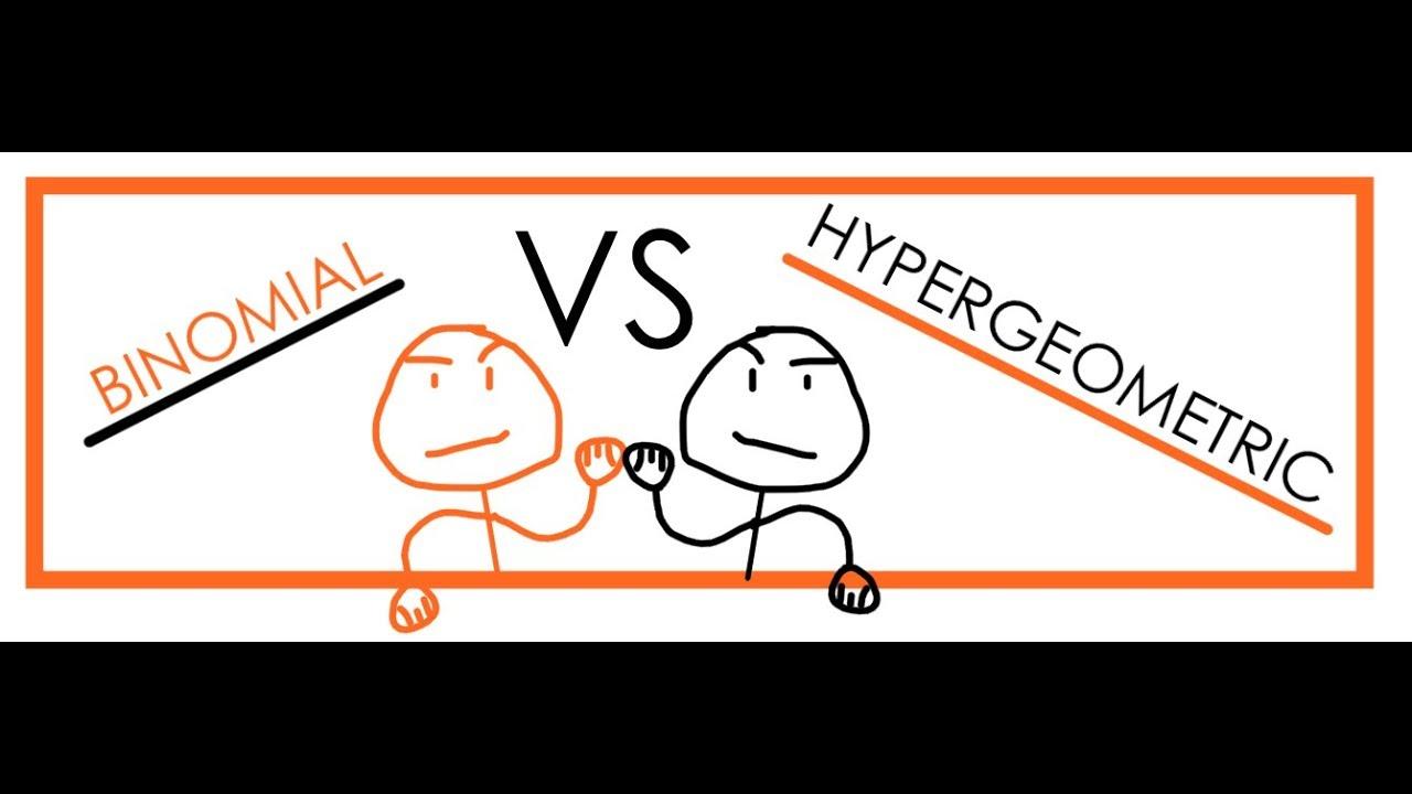 Binomial vs. Hypergeometric Distributions