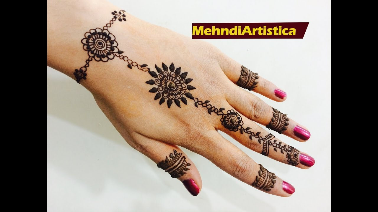 Stylish and simple mehandi designs images