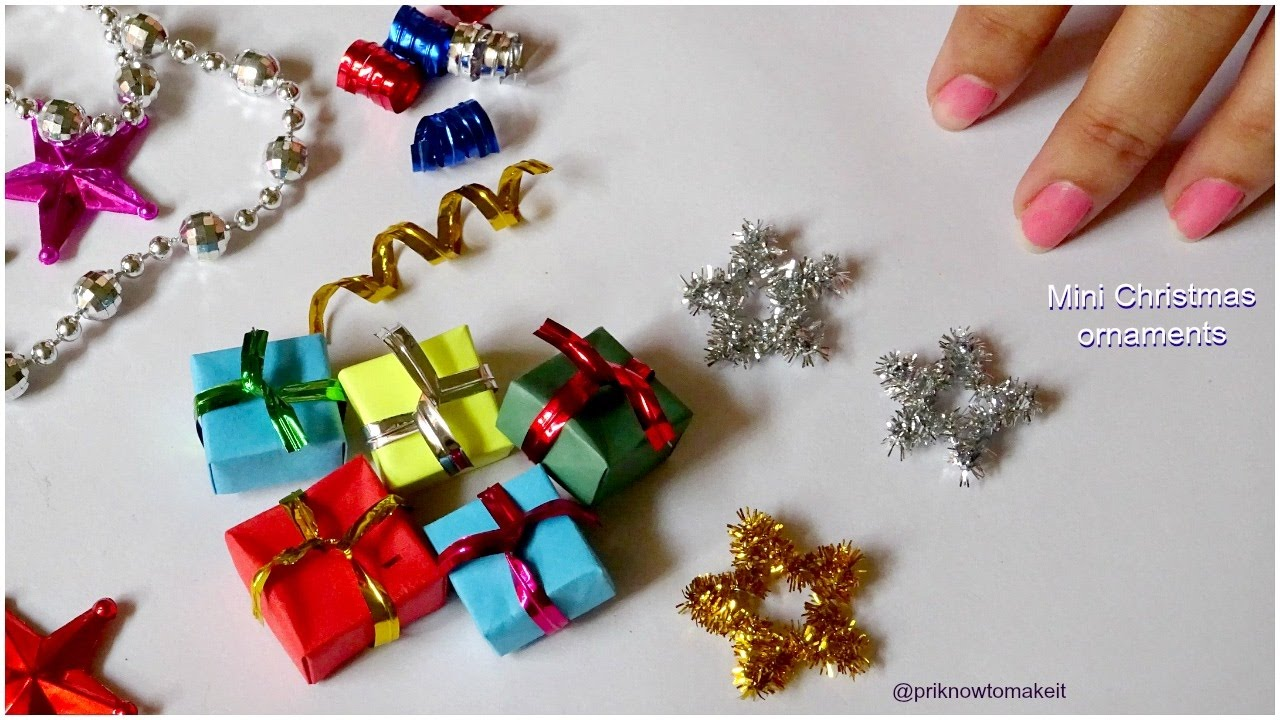 Christmas ornaments 3 easy mini christmas ornaments diy for Small christmas decorations