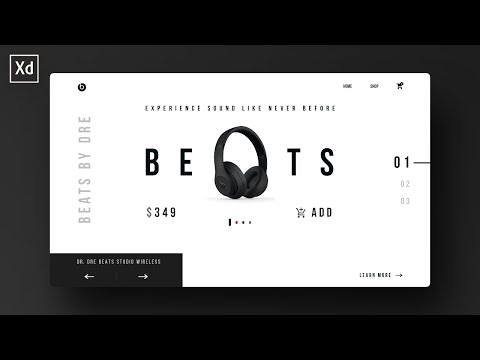 Beats Website UI Design in Adobe XD | Tutorial thumbnail