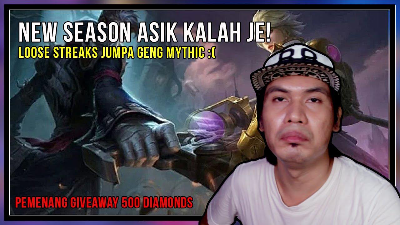 AUTO KALAH LEPAS SEASON! ASIK JUMPA MYTHIC JER | PEMENANG 500 DIAMONDS MOBILE LEGENDS TAHNIAH YA...