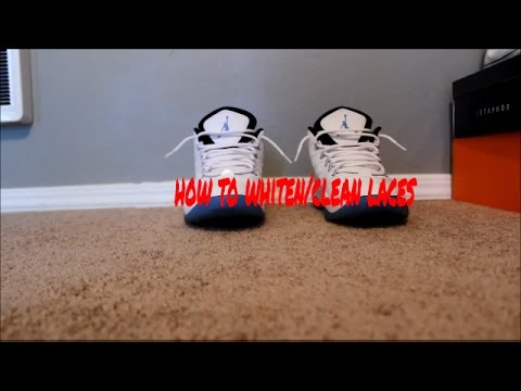 how to whiten / clean laces