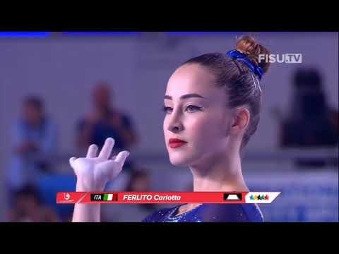 Carlotta Ferlito (ITA) - Floor (GOLD) (Corpo Libero) - Event Final - Universiade Napoli 2019