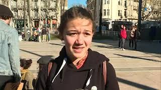 Myrtille participe à la marche des lycéens pour le climat à Perpignan