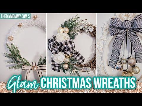 GLAM DIY CHRISTMAS WREATHS   Christmas DIY & Decor Challenge