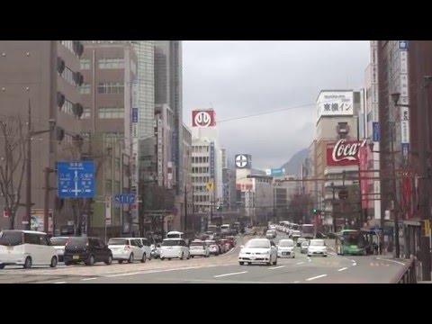 熊本市水道町交差點と繁華街景観 - YouTube