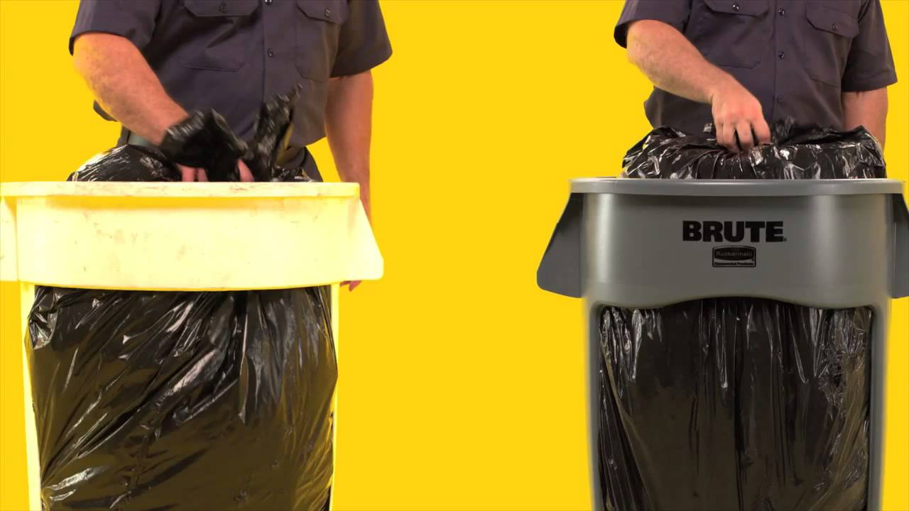 vented brute trash cans by rubbermaid features and benefits youtube - Rubbermaid Trash Cans