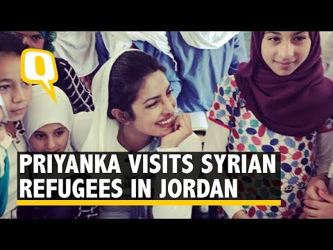 Priyanka Chopra Visits Syrian Refugee Camps in Jordan as UN Goodwill Ambassador