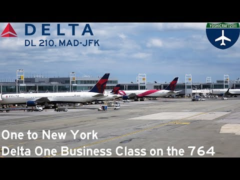 One to New York - Delta One Business Class on the 767-400ER (DL210, MAD-JFK)