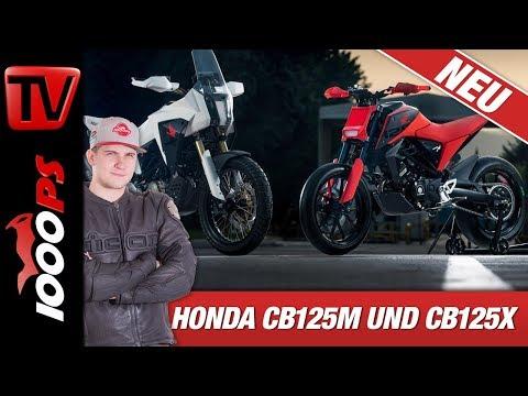 Honda CB125M und CB125X Concept - 125er Supermoto Wahnsinn!