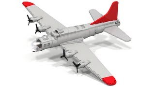 Huge Lego WWII B-17 Flying Fortress Instructions