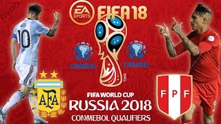 FIFA 18 | Argentina vs Peru | 2018 FIFA World Cup Qualifiers CONMEBOL | PS4 Full Gameplay