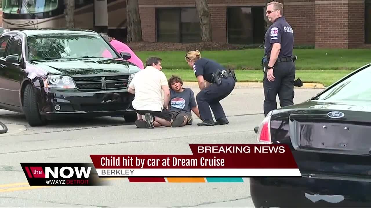 Child On Bike Hit By Car At Dream Cruise