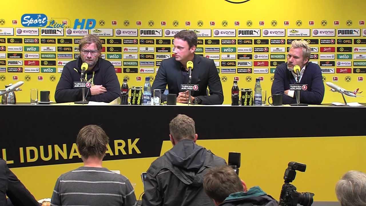 BVB Pressekonferenz vom 14. September 2013 nach dem Spiel Borussia Dortmund gegen den Hamburger SV