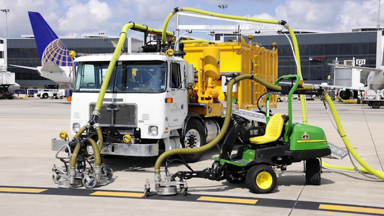 Airport Runway Marking & Runway Rubber Removal - Hog Technologies
