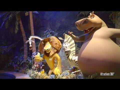 [4K] Madagascar Water Dark Ride - A Crate Adventure  - Universal Studios Singapore