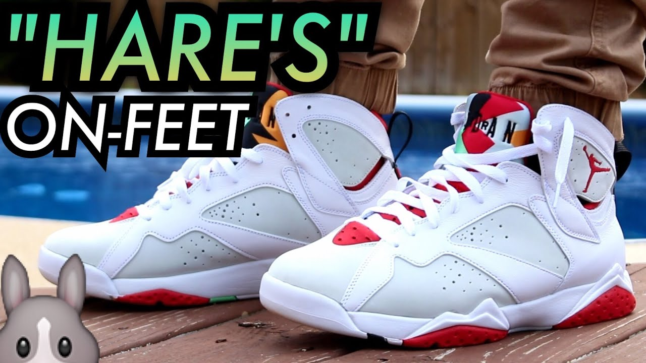 air jordan 7 hare on feet 2015 movies