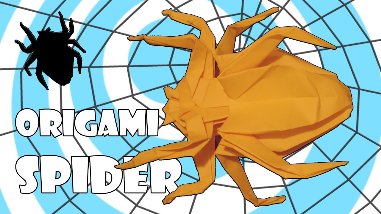 hight resolution of origami spider instructions