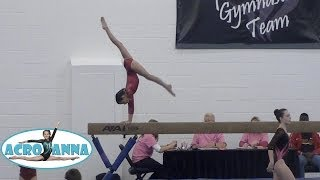 Annie the Gymnast | USAG New Level 5 Gymnastics Meet 1 | Acroanna