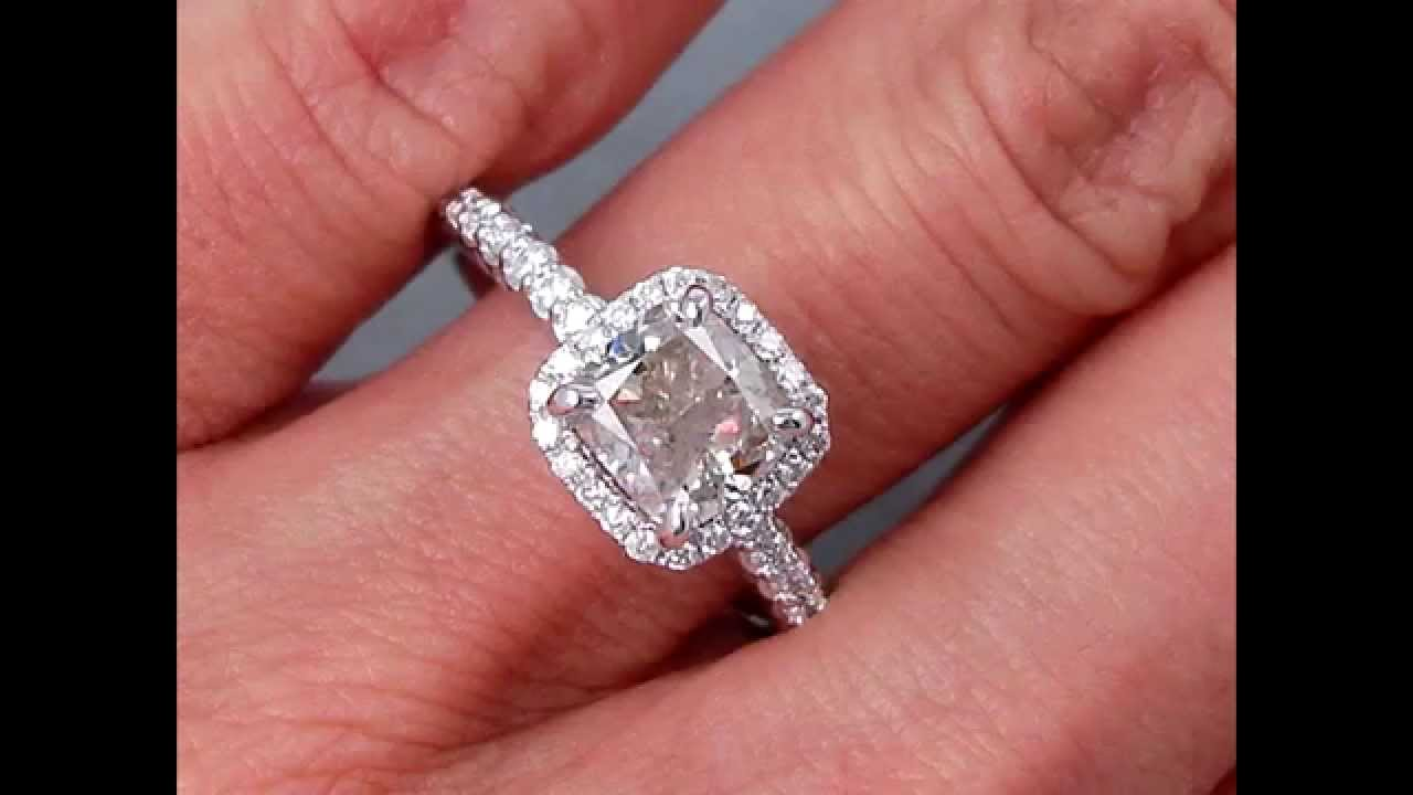2.00 ctw Cushion Cut Diamond Engagement Ring J SI2 - BigDiamondsUSA ...