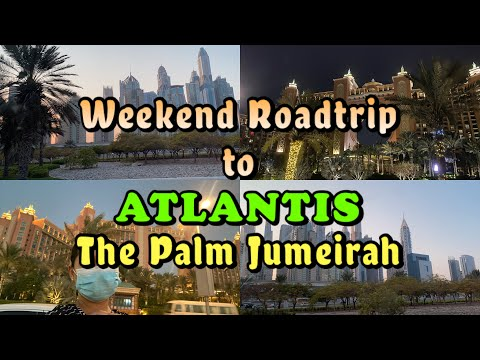 ATLANTIS, The Palm || Road Trip to The Palm Jumeirah, Dubai || Sea-Crossing Tunnel in Palm Jumierah