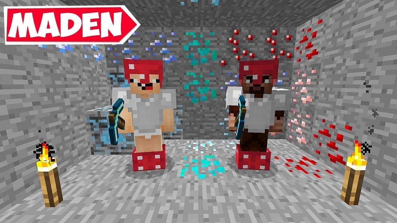 MODLU MADEN YAPTIK (EFSANE) !! 😱 Minecraft