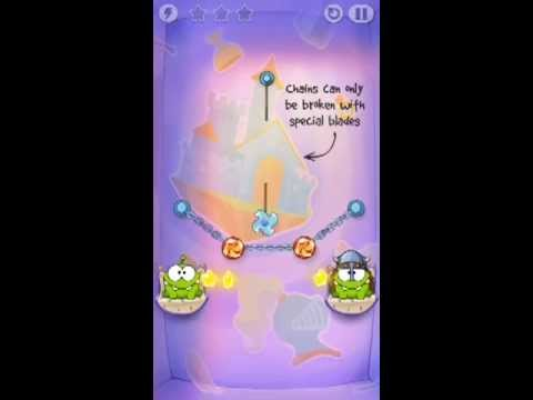 Cut The Rope Time Travel Level 1-7 Walkthrough | The Middle Ages Level 1-7 Walkthrough