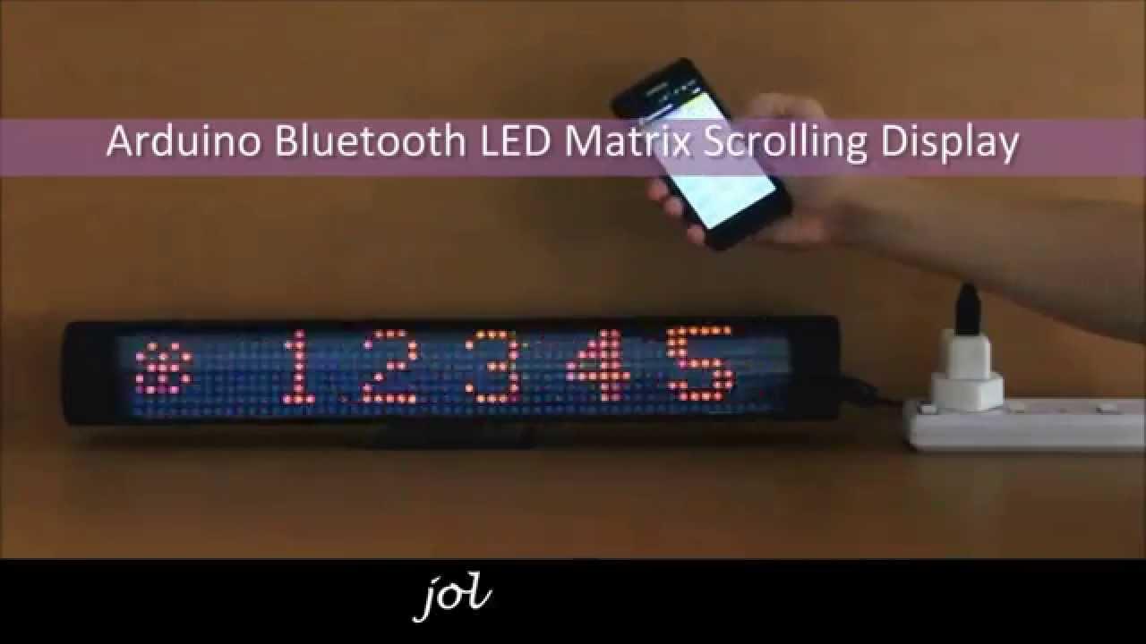 Arduino Bluetooth Led Matrix Scrolling Display Jollifactory Charlieplexing Amp Code