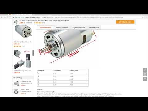 775 DC Motor from Banggood - Are the specifications correct?