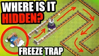 "Clash Of Clans - ""THE FROZEN SNAKE!"" - EPIC FREEZE TRAP TROLL BASE!"