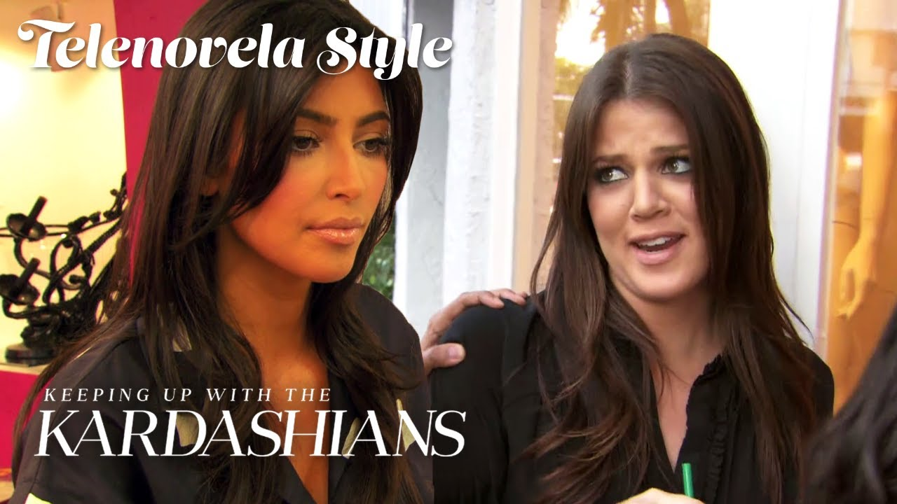 Kim Kardashian Can't Even Look at Khloé | KUWTK Telenovelas | E!