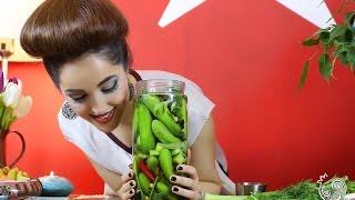 خیارشور ترد یک روزه انار سبز☆ Crunchy pickles in just one day