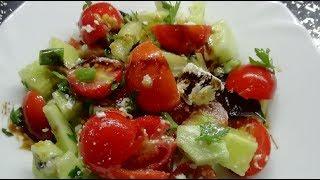 Нежный салат с Фетой. Очень простой в приготовлении. Пошаговый рецепт
