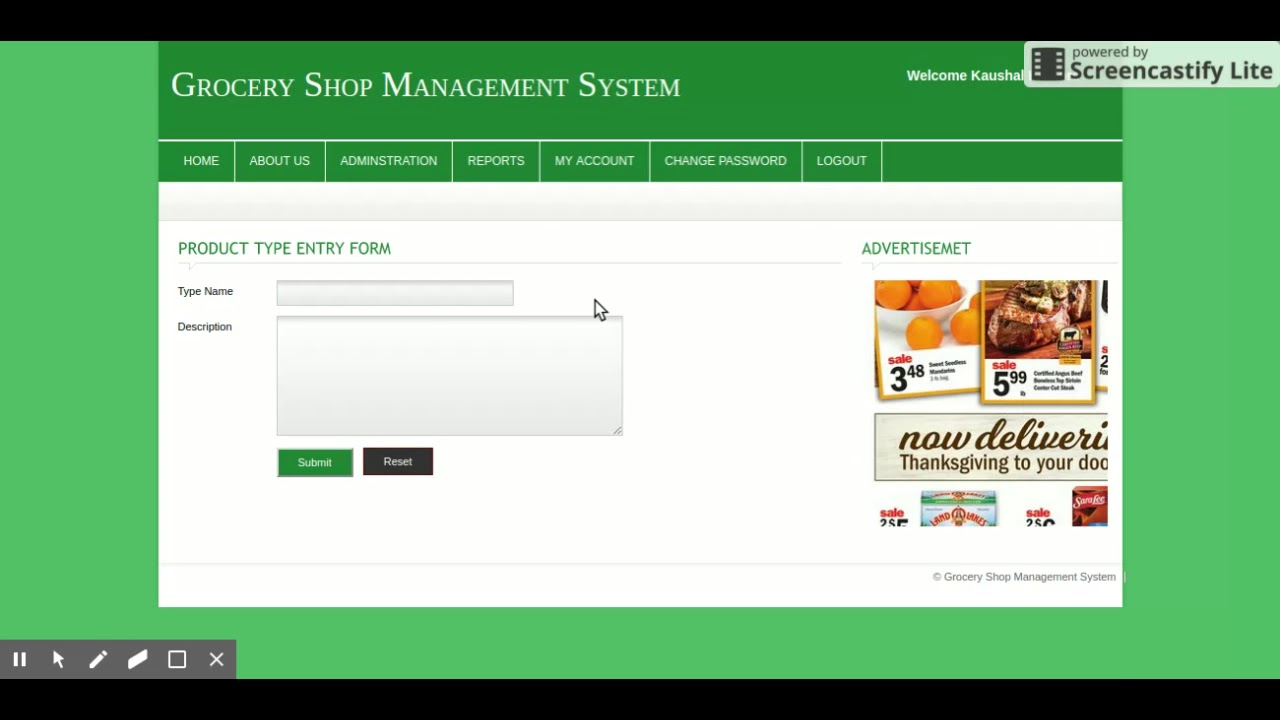 Grocery Shop Management System