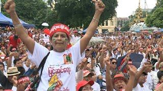 Myanmar protests demand military loosen grip on politics   AFP
