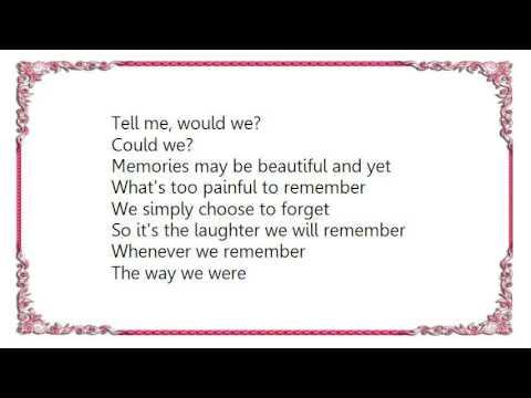 Columbia Ballroom Orchestra - The Way We Were Tango 33BPM Lyrics