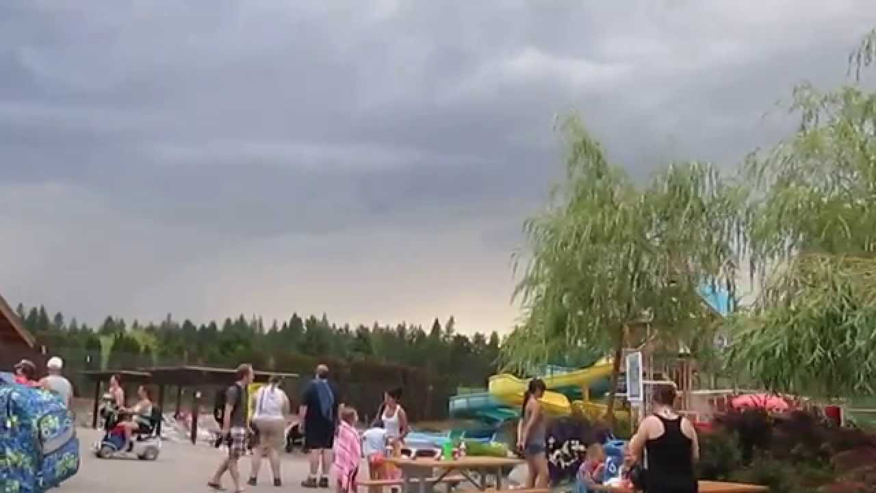 Severe Thunderstorm Warning At Silverwood Theme Park With