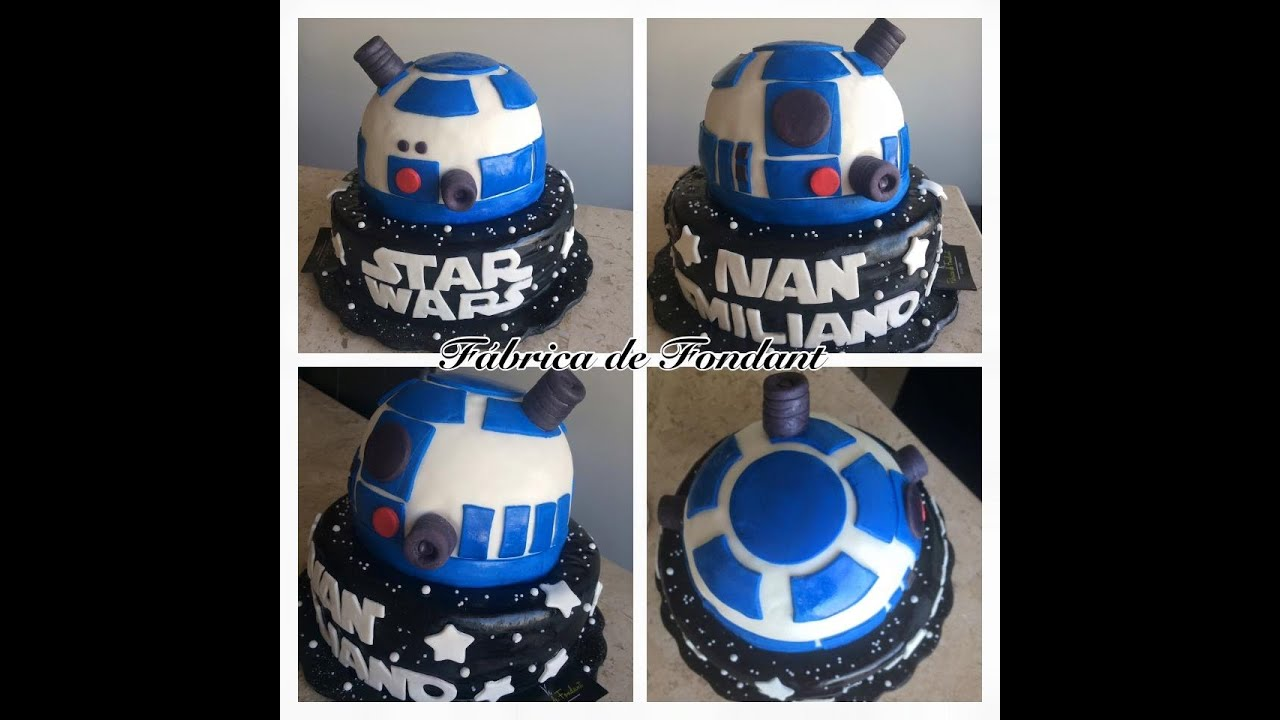 Popolare Pastel de Star Wars Cake hecho de fondant - YouTube SO88